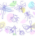 insect bee bug moth set vector image vector image