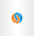 letter s blue orange logotype circle symbol vector image vector image