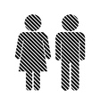 Male and Female sign vector image vector image