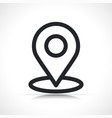 map location pin line icon vector image