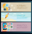 modern business concept in flat design planning vector image vector image