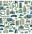 modern urban city buildings and transport vector image vector image