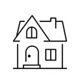 monochrome simple house building icon vector image