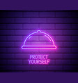 neon light condom in package safe sex sign icon vector image vector image