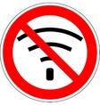 No wifi sign 103 vector image
