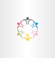 people circle color icon line symbol vector image