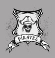 pirate emblem or design element hand drawing vector image vector image