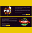 pizza and italian recipes set vector image vector image