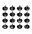 pumpkin smile silhouette set symbol icon design vector image