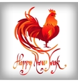 Red rooster Happy Chinese new year 2017 vector image vector image