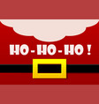 red santa claus costume greeting card ho vector image