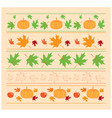 seamless autumn ornaments with maple leaves vector image
