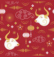 seamless pattern chinese happy new year vector image vector image