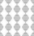 seamless pattern of white circles with the contour vector image