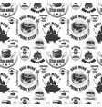 seamless pattern with steak house symbols grill vector image vector image