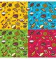 seamless pattern with sweets vector image vector image