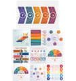 set 10 universal templates elements infographics vector image