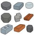 set brick vector image vector image