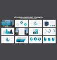 set of blue and turquoise elements for vector image vector image