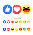 set of positive and negative round emoji icons vector image vector image