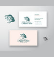 skin care logo and business card template vector image vector image