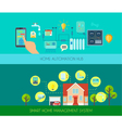 Smart Home Banners Set vector image vector image
