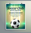 soccer cup final series flyer template vector image vector image