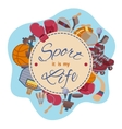 Sport it is my life set of objects vector image vector image