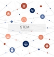 stem trendy web template with simple icons vector image