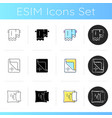textile products for house icons set vector image vector image