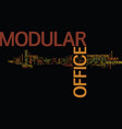 the modular office text background word cloud vector image vector image