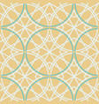 tile pattern 1960 s style green and brown color vector image vector image