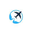 travel logo icon design vector image vector image