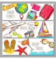 Travel Sketch Banners Set vector image vector image