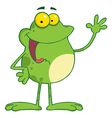 Waving Frog vector image vector image