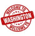 welcome to Washington vector image vector image