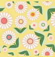 white flowers and green leaves in floral folk art