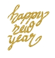 New Year lettering with stars vector image