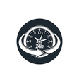 24 hours-a-day concept clock face with a dial and vector image vector image