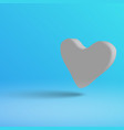 a light heart on a blue background in 3d style vector image vector image