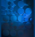 abstract background with blue circles and shadows vector image