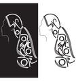 Abstract girl hair vector image vector image