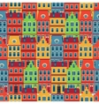 Amsterdam houses seamless pattern vector image vector image