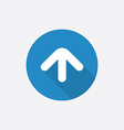 arrow Flat Blue Simple Icon with long shadow vector image vector image