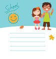 Back to school Design with two kids vector image vector image