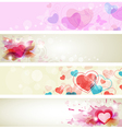 banners romantic vector image vector image