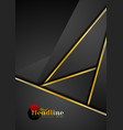 black abstract corporate background with golden vector image vector image