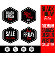 Black Friday Logo Badge Emblem vector image vector image