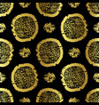 black on gold polka dots pattern seamless vector image