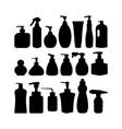 bottle silhouette shampoo bottle vector image